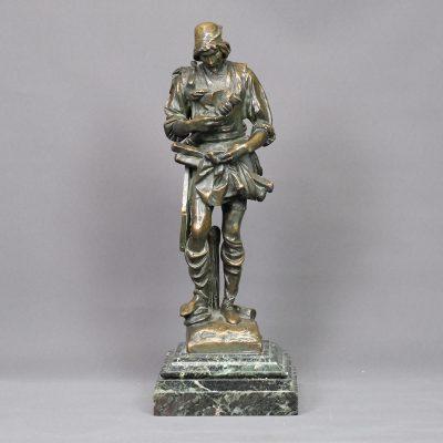 'The wood turners association', a bronze sculpture