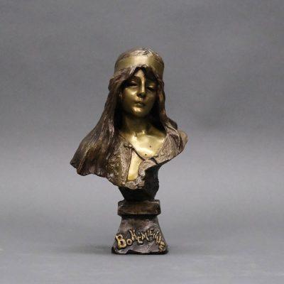 'La Bohémienne', a bronze sculpture